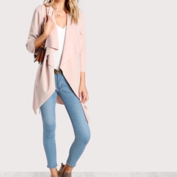 1de204a05 Edge Style Boutique Jackets & Coats | Elegant Apricot Waterfall ...